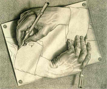 On Escher and Becoming